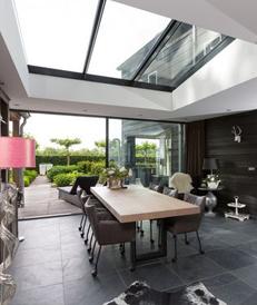 Soorten dakbedekking veranda: veranda plat dak