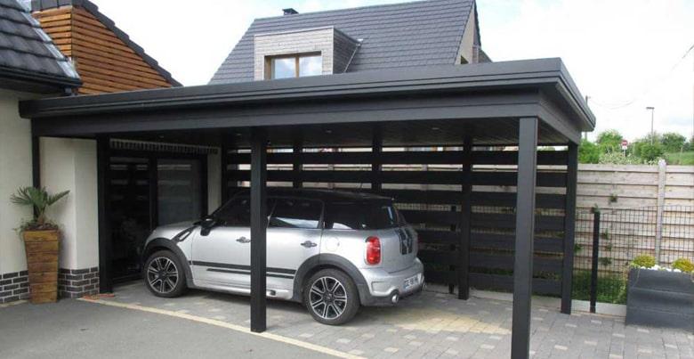 Carport of garage