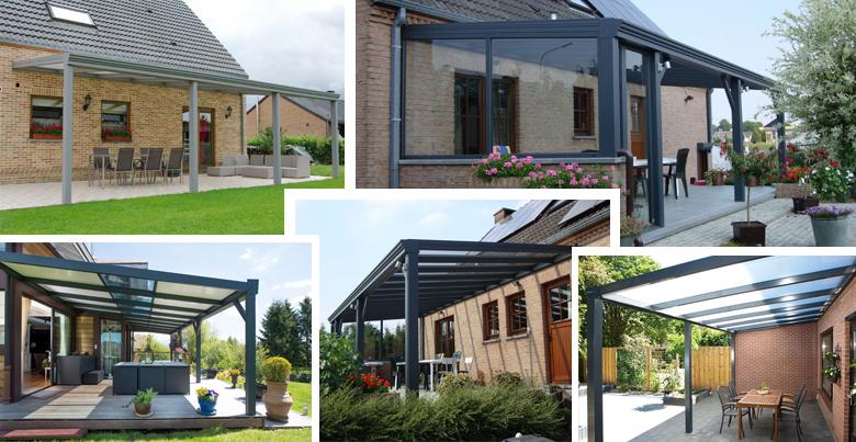 Design terrasoverkapping: aluminium